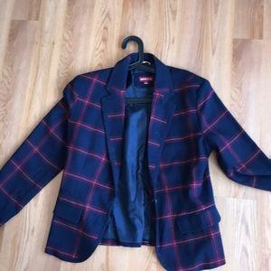 Never worn! Mossino plaid jacket